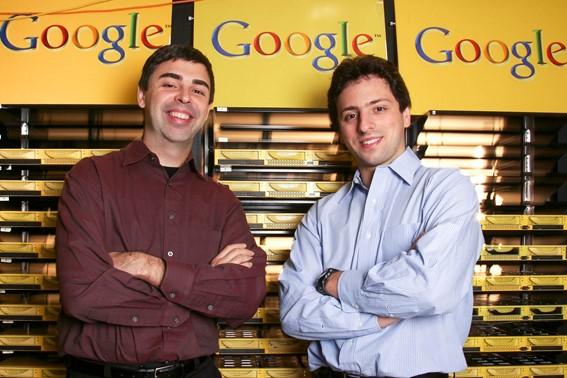 Larry Page e Sergey Brin, criadores do Google